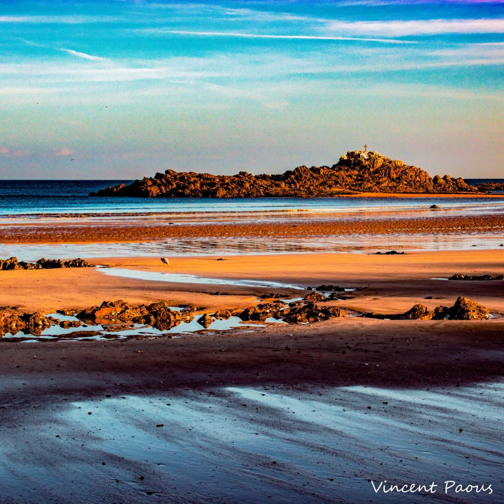 photographie par vincent paous d'un paysage de mer, la lumière crée une peinture