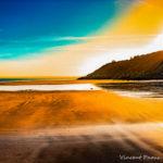Photographie couleur d'un paysage de mer