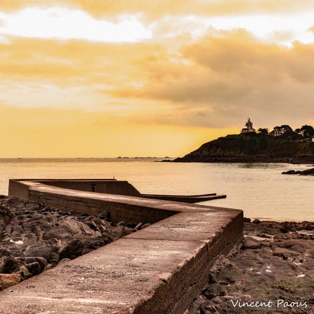 Saint-Quay le matin, perspective de la plage